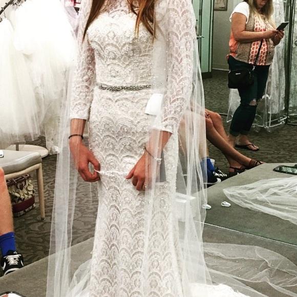 d46e7d9343fab Oleg Cassini Dresses   Beaded Lace 34 Sleeved Wedding   Poshmark